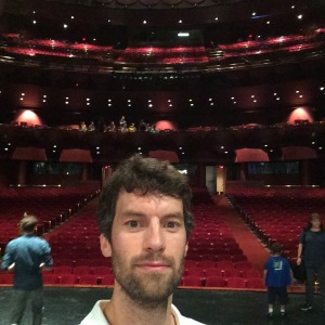 Center stage at the Wortham Theatre in Houston. I am not yet a star. This was an open house before the season.